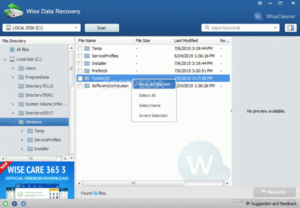 Wise Data Recovery Key crack